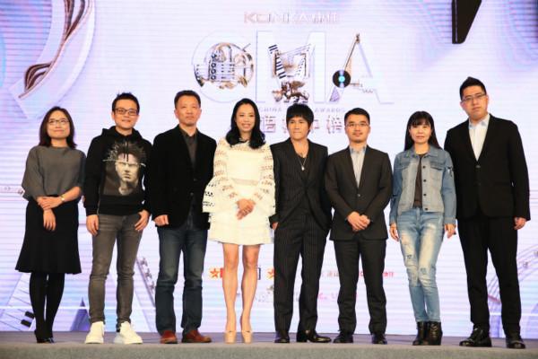 曹格黄绮珊现身二十一届华语榜中榜发布会