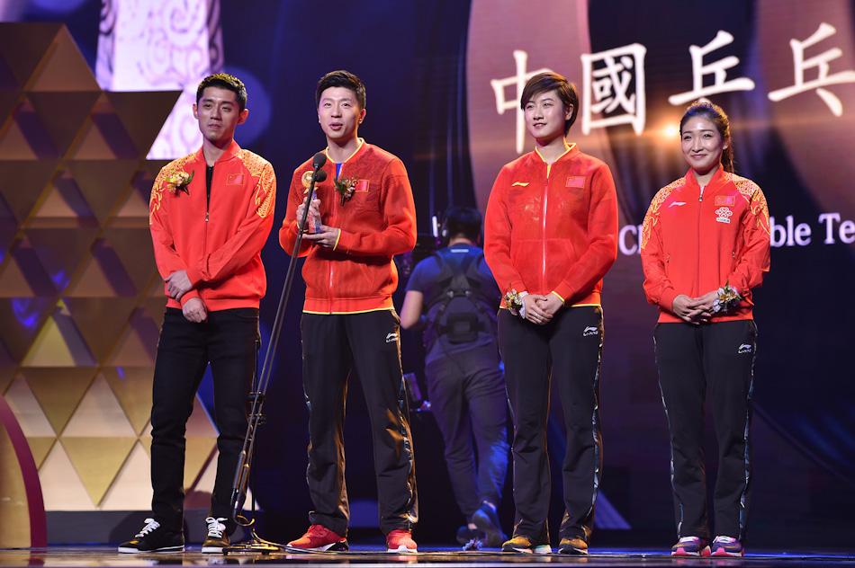 """中国乒乓球队获得2017年度""""影响世界华人大奖"""""""