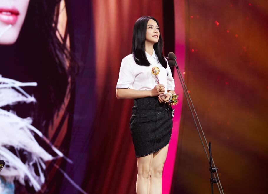 著名影星姚晨获颁2017年度华人盛典公共事务类大奖