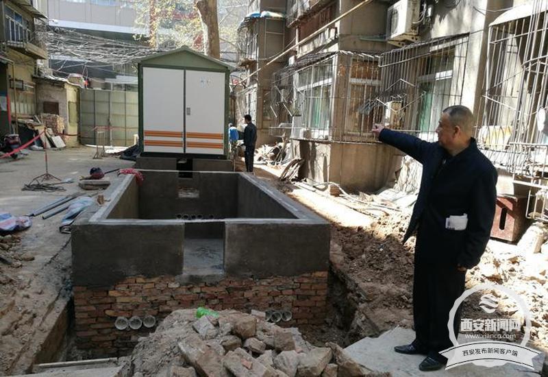 小区新改建两个配电室 离居民住宅不足两米引