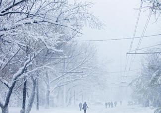 摩尔多瓦降春雪