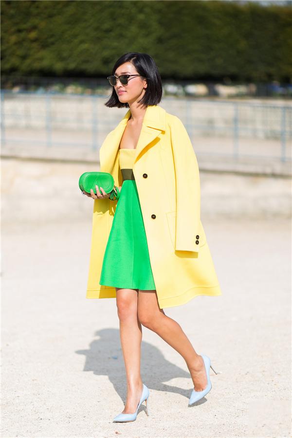 谁说亚洲人穿不了绿色?像杨幂这样就能穿好看!