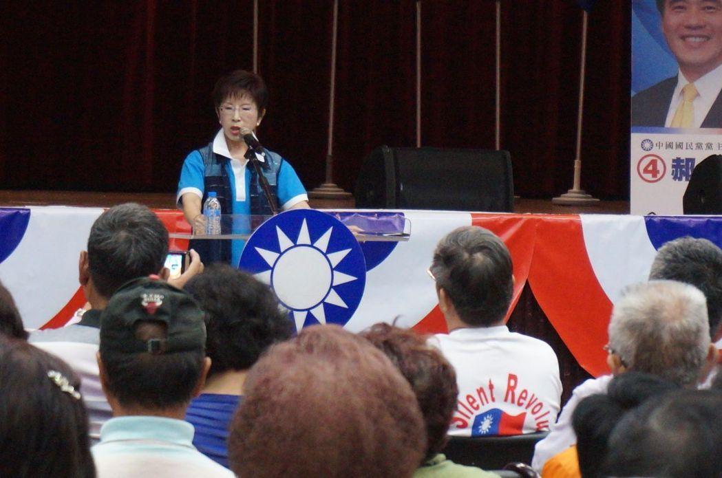 洪秀柱:各国都在谈一带一路 蔡英文断送台湾未来