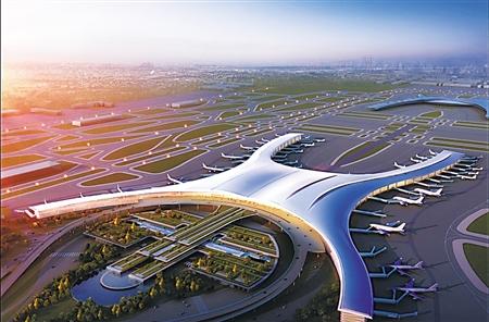 江北国际机场t3a航站楼效果图