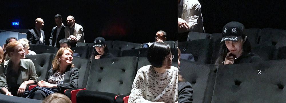 范冰冰戛纳评审工作照曝光:咬手指打分表情严肃
