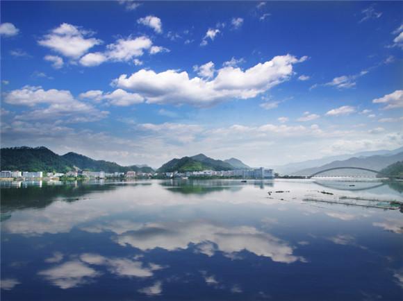 小城镇整治省级样板镇,桐庐威坪镇风景.