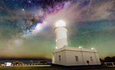 澳洲银河与自然风光相映成辉