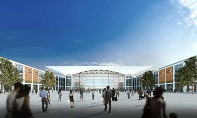 红岛国际会议展览中心定位于集展馆,配套会议,酒店,办公和商业设施等