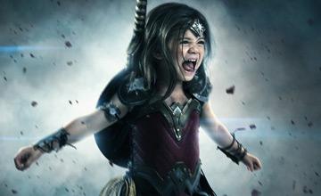 """一位爸爸让自己3岁的女儿成为""""神奇女侠"""""""