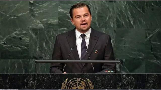 小李子在联合国的演讲 发音真是漂亮啊
