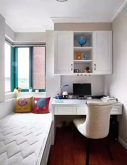 有单人床的宽度就够,旁边就可以加上一张书桌,墙面打书柜,就算卧室图片