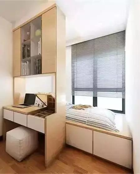 榻榻米结合书房,实用性最强的小户型次卧装修!