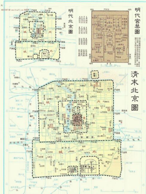 明清北京城平面图