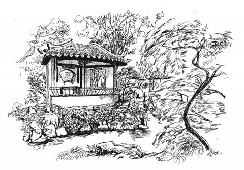 苏州园林手绘分析图