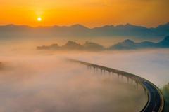 初秋《重庆云海地图》带你看云海