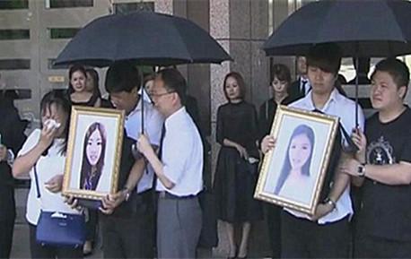 """遇害中国姐妹葬礼在日举行 父亲大哭连称""""不甘心"""""""