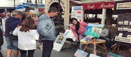 张馨予巴黎街头卖画 网友:混不下去就回来