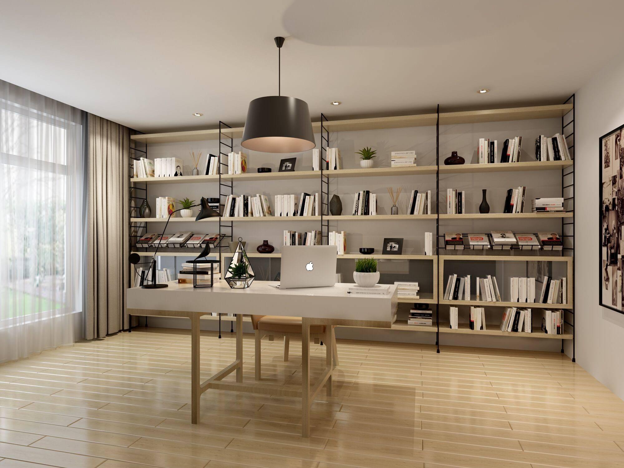 你可以没有衣帽间,但你必须要有一间书房图片