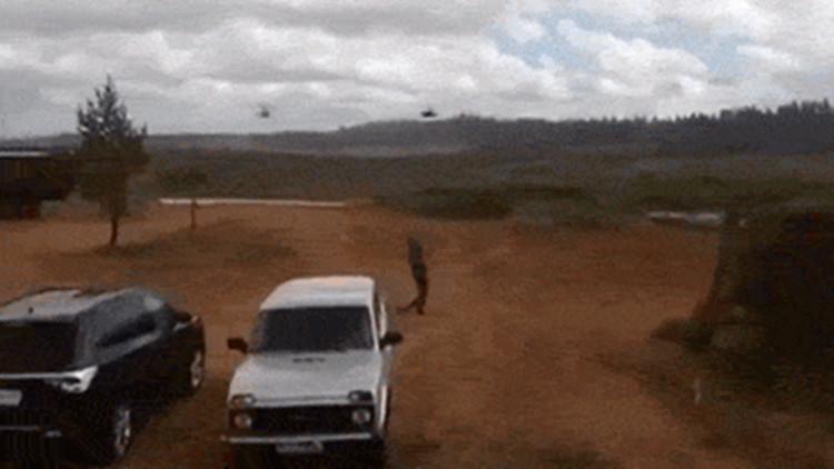 俄军直升机演习误炸记者?网传视频流出