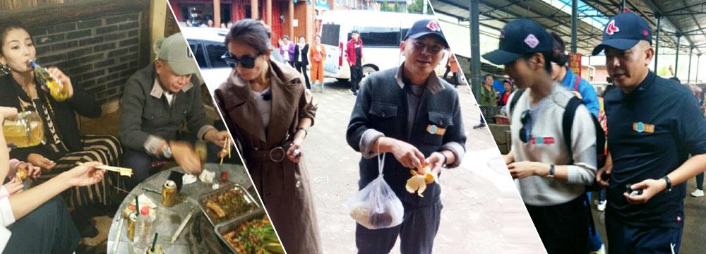 刘涛喝酒对瓶吹,老公王珂在旁默默喝凉茶