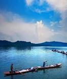 仙女湖印象:秋捕归来鱼满舱