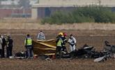 西班牙一架F18战机在马德里坠毁