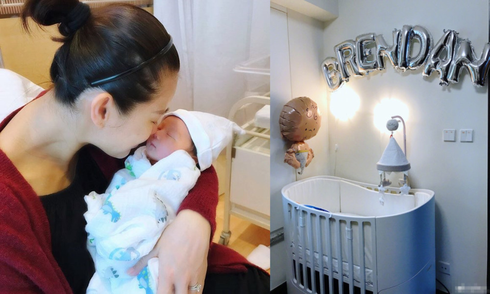 胡杏儿首曝光儿子婴儿房 布置非常温馨