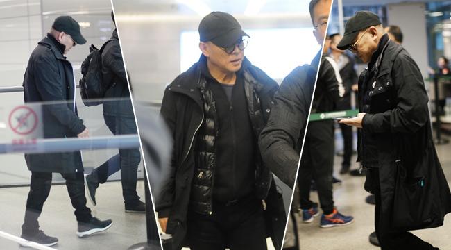 李连杰穿黑衣低调现身 疾步快走表情淡定