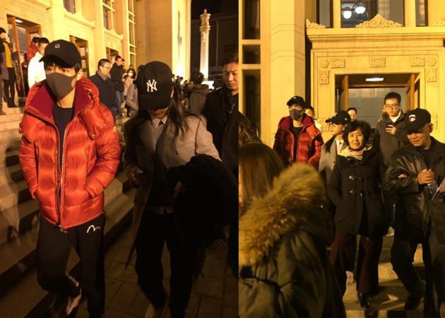 李冰冰和王俊凯看话剧被偶遇 暖心比划教他提升演技