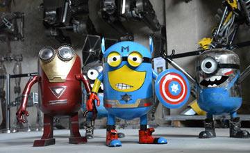 老爹为儿子制作玩具 造出了一个机器人军团