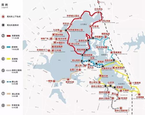 汤菱湖线:白马洲头—华侨城公园北—欢乐谷—华侨城湿图片