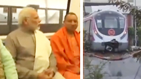 莫迪一脸冷漠试乘印度无人驾驶地铁:上周刚撞墙