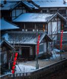 常州东方盐湖城披白纱 雪景美如画