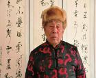 85歲高齡的書法家袁鴻典印象