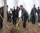 永城市四大班子领导义务植树 为森林河南建设增绿添彩