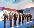庆祝改革开放40周年暨第九届中国(永城)面粉食品博览会书画摄影展开幕
