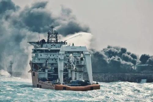 日本海上保安厅:东海起火油轮正向日本漂流