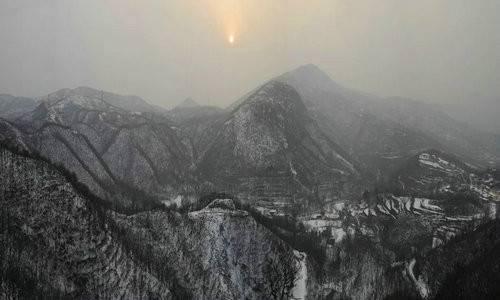 浮戏山雪花洞景区雪落成诗 诗情胜雪