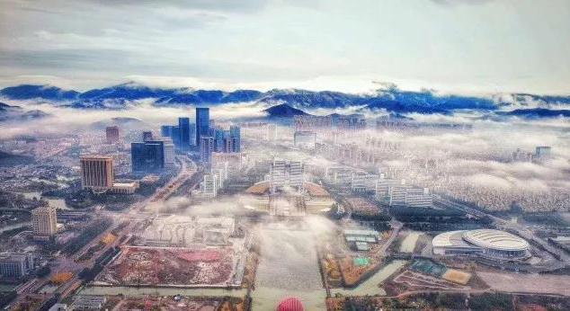 舟山突现平流雾奇观 每一张都是壁纸