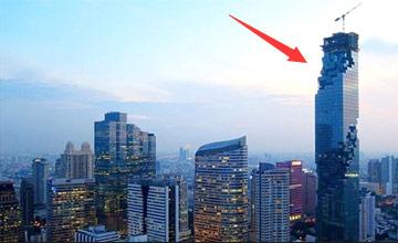 这座第一高楼网友嘲笑像烂尾楼 晚上再看全闭嘴了(图)