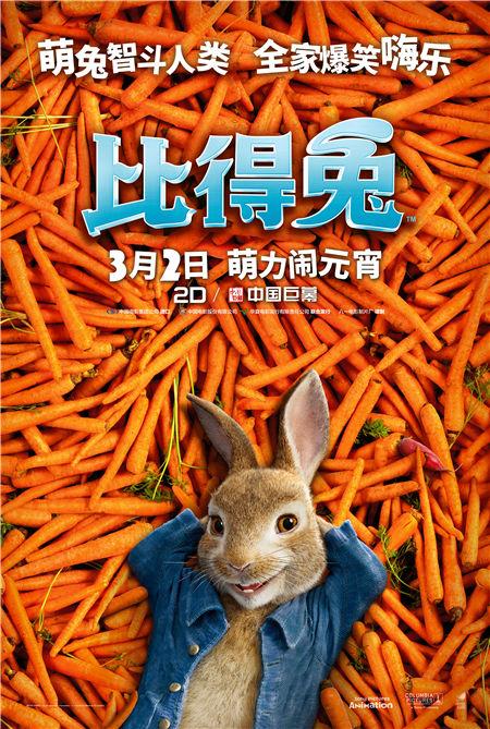 《比得兔》定档元宵节 兔界流量担当首登银幕