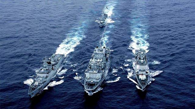出兵马尔代夫?中国军舰罕见云集印度洋
