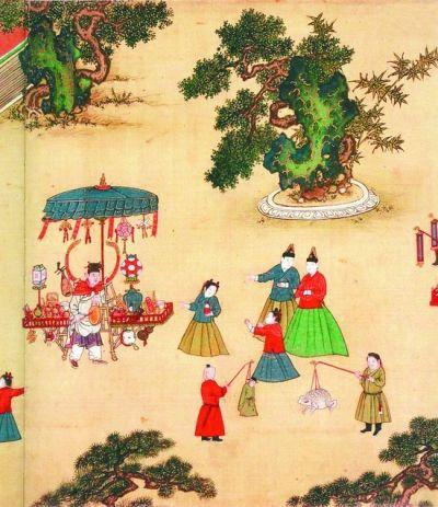 书画 从 明宪宗元宵行乐图 看古人如何欢度元宵节