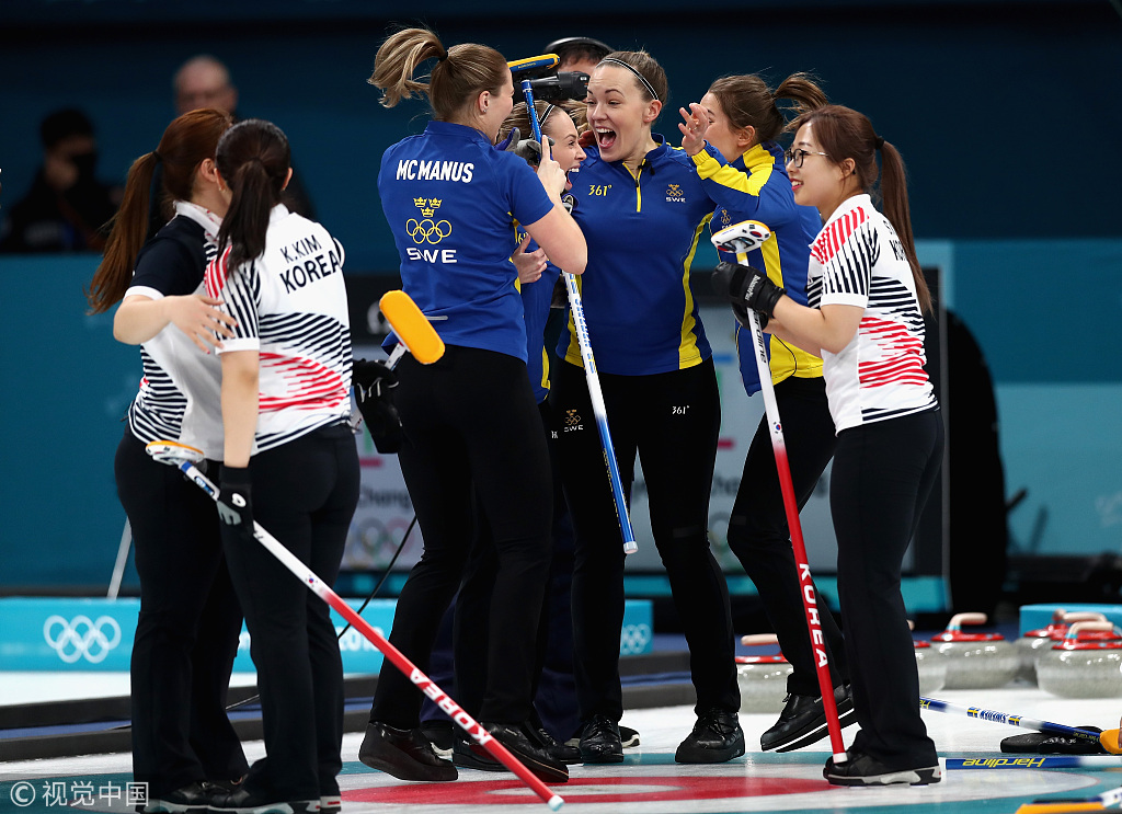 冰壶瑞典逼韩国提前认输 强势夺冠