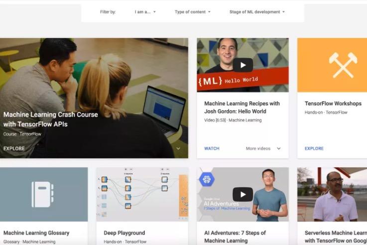 谷歌推出新在线课程 免费教授AI和机器学习