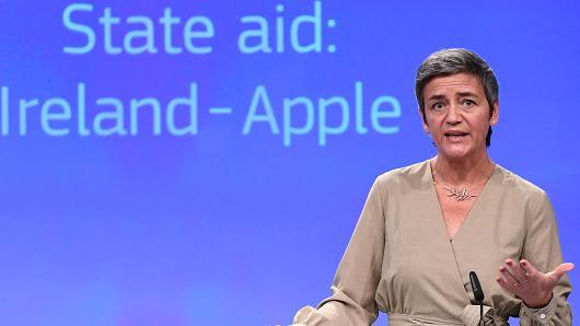 欧盟:爱尔兰必须全额追缴苹果130亿欧元税款 否则继续起诉