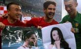 """懂你!球星帕托进球后全场球迷高喊""""迪丽热巴""""并送海报"""