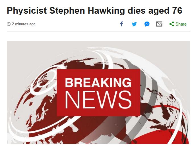 物理学家霍金去世 百度热搜 图2
