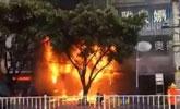 桂林米粉店突发火灾 无辜食客两死一伤