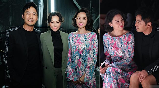 郭晓冬夫妇同框刘嘉玲 戏内外老婆相见笑开颜